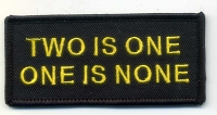 Two is One One is None patch 3.5x1.5